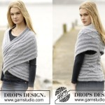 Накидка — жилет от Drops Design