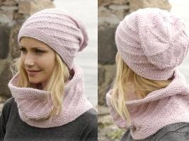 Шапка и шарф-снуд от Drops Design