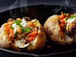 Фаршированный запеченный картофель