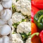 Салат из цветной капусты и грибов
