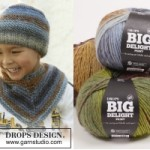 Вязаная шапка и шарф «Big brother» от DROPS Design