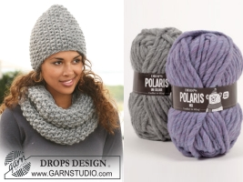 Шапка и шарф-снуд жемчужной вязки