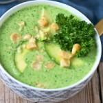 Суп пюре из брокколи с авокадо