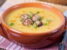 Тыквенный крем―суп с фрикадельками