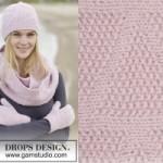 Зимнее трио от Drops: шапка, шарф и руковицы