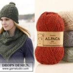 Комплект шапка и шарф от Drops