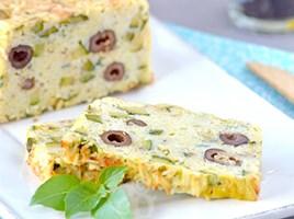 Рисовый пирог с кабачками и маслинами