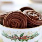 Печенье шоколадное с кофе