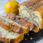 Лимонный кекс с ежевичным вареньем